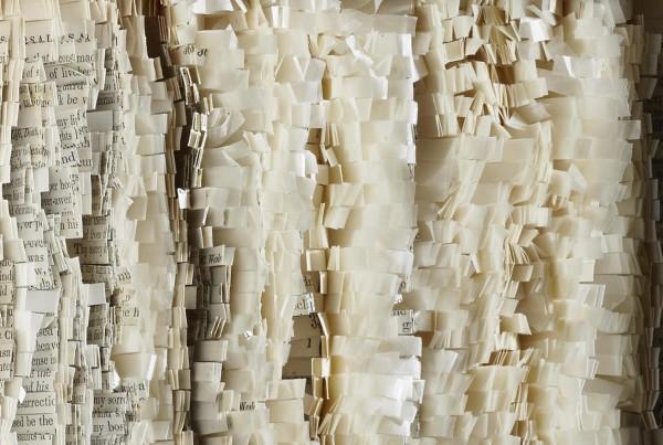Carole P. Kunstadt, Sacred Poem LXIII, gampi tissue, thread, paper
