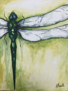 """""""Dragonfly"""", watercolor, 8x10"""