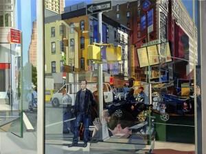 Susan La Mont, The Illusion of Reality , oil on linen, Street Scenes 2016