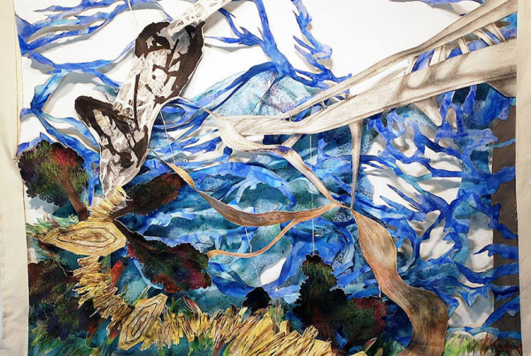 Jung Min Park,  The Island , mixed media on fabric