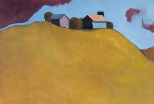 Teresa Jarzynski,  Rasberry Sky , oil on canvas, Fall Member Show 2016