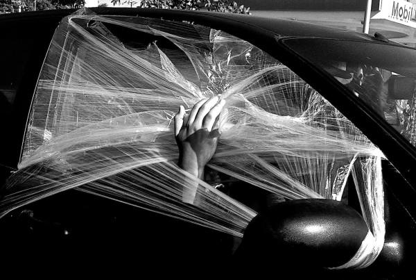 Kate Stillwell,  Saran Window , digital photography, Art on Paper 2015