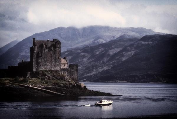 Eilean Donan Castle at Dusk, Archival Photograph, Ron Colbroth