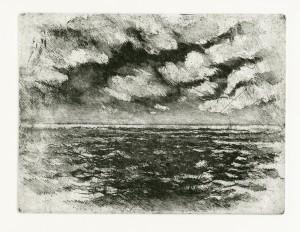 """Atlantic Morning"" by Bruce Muirhead (intaglio)"