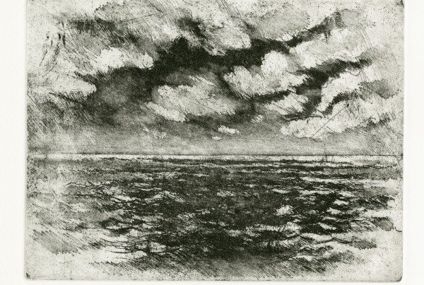 """Atlantic Morning"" by Bruce Muirhead (intaglio)"