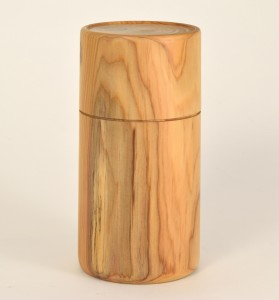 %22Box in the Bag%22, A woodturned box in English Yew, Allen W. Alexopulos