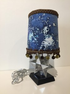 Batik Lamp, mixed media, Mischelle Wilbricht