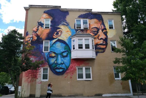Linda Agar-Hendrix Three Faces Mural