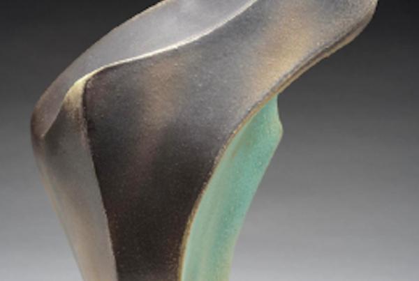 Lisa Battle, Carbon Flame, ceramic sculpture, 8x19x9 (Winter 2018)