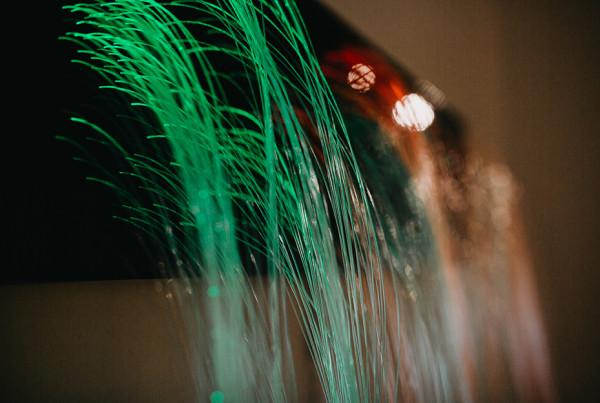 Eden Sank to Grief, fiber optic cables, LEDs, laser cut acrylic, wood, Brandon Seth Gellis