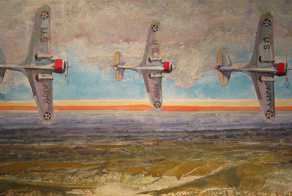 curtiss in landscape[p-36], mixed media on canvas, Don Weaver
