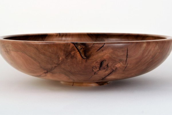 The Apple Bowl, open vessel turned from apple wood, Paul Adams, from Turned Forms 2019