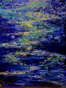 "Maria –Victoria Del Carmen Checa, ""Water Reflection"". acrylic on canvas, for Lowe House 2020"