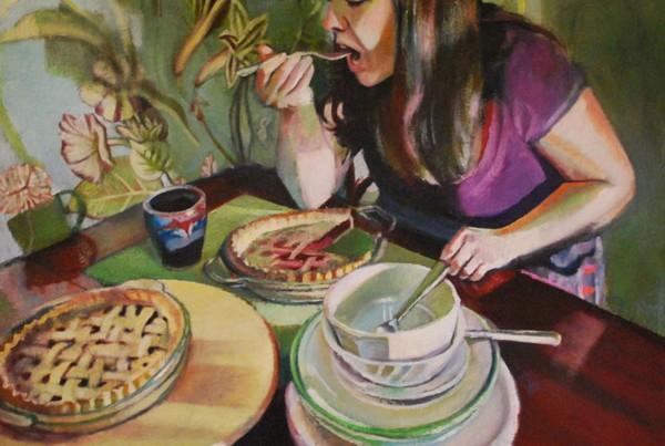 Erin Elizabeth Murray, It's Never Enough, oil,.32x32 (MD Art @ College Park, 2013)