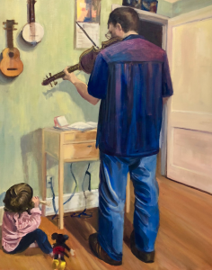 """Amy L Healey, """"And Now a Duet"""", oil on canvas, 16x20"""
